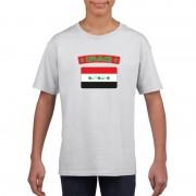Bellatio Decorations T-shirt Irakese vlag wit kinderen M (134-140) - Feestshirts