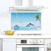 TipTop Wall Sticker Dolphin Style Grease Proof