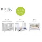 Set patut Katie Alb + salteluta pentru bebelusi Tutti Bambini
