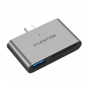 LENTION CS15 USB-C to USB 3.0 SD/Micro SD Card Reader Converter