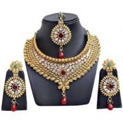 Jewels Gold Alloy Amazing Golden Plated Traditional Designer JG-NC6636 Necklace Set