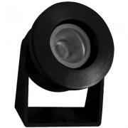 KlemKo Luxi LED opbouwarmatuur zwart rond 12V warmwit 876106