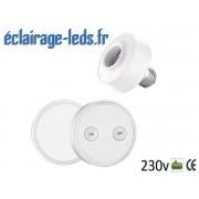 Douille E27 commandée à distance Max 30w pour lampe et ampoule LED ref dm-14