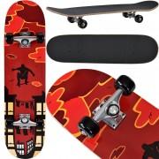 [pro.tec] Monopatín Skateboard para el cruising en la ciudad y el parque - 79 x 20,5 x 13,5 cm - Retro Board (Parkour al atardecer)