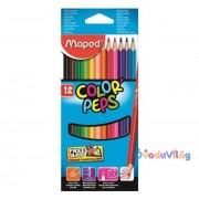 """Színes ceruza készlet 12db-os MAPED """"Color Peps"""" háromszögletű"""