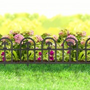 Virágágyás szegély / kerítés fekete műanyag 60 x 30 cm