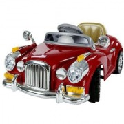 THAKRAN Kids battery operated ride on VINTAGE car with remote control music