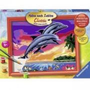 Забавна детска игра, Рисувателна галерия, Цветни делфини, 7028389