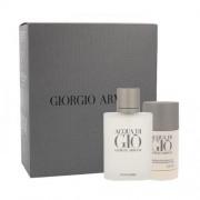 Giorgio Armani Acqua di Giò Pour Homme set cadou EDT 100 ml + Deodorant stick 75 ml pentru bărbați