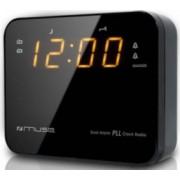 Radio cu ceas Muse M-165 Dual Alarm LED Black