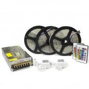 Kit complet 15m banda RGB 60SMD 5050/m telecomanda 44 taste ManiaLight