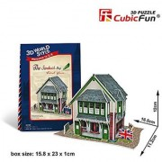 3D Jigsaw Puzzle The Sandwich Shop CubicFun 3D Puzzle W3106h 36 Pieces Decorative Fashion Best Seller Cubic Fun Exiting