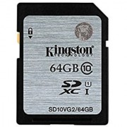 Kingston Digital SDXC Class 10 UHS-I 45R/10W Flash Memory Card (SD10VG2/64GB)
