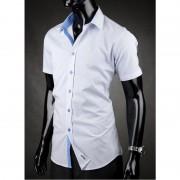 Pánská košile s krátkým rukávem Desire modro-bílá Victorio 019