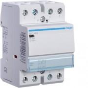 Moduláris kontaktor 63A, 4 Nyitó érintkező, 230V AC 50 Hz (Hager ESC464)