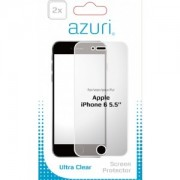 Azuri 2 x Flexibele Screen Protector voor Apple iPhone 6 Plus/6S Plus transparant
