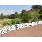 Gard de gradina din plastic-3,5 m-alb