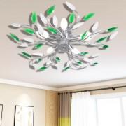 Полилей с бели и зелени листа от акрилен кристал
