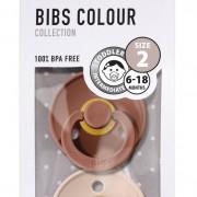BIBS Bibs Colour Nappar 2-pack Woodchuck/Blush Pink Strl. 2