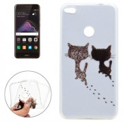 For Huawei P8 Lite (2017) Two Cats Pattern Soft TPU Protective Case