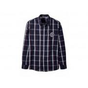 Livergy Heren overhemd XL (43/44), Blauw/rood geruit