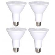 4 Pack Bioluz LED PAR30 LED Bulb, 12w Dimmable Flood Light Bulb, 100w Halogen Bulb Replacement, 850 Lumen 3000K Indoor/Outdoor UL Listed