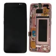 Ecran Display cu touchscreen si rama Samsung Galaxy S8 Plus G955f Pink Roz