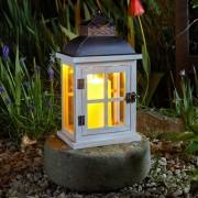 Kerti Minster rusztikus fa lámpás 32 cm