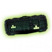 Клавиатура KEEPOUT F80, гейминг, 12 клавиша за мултимедиен контрол, 5 програмируеми клавиша за макроси, черна, USB