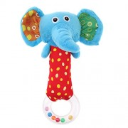 Rrimin Cute Plush Cartoon Elephant Hand Bells Baby Toys Baby Rattle Ring Bell Toy