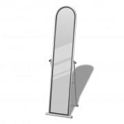 vidaXL Álló tükör Életnagyságú/Teljes hosszúságú Téglalap alakú Szürke