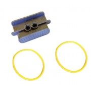 Lego Parts: Rubber Belt Xl (Round Cross Section) 5 X 5 + Belt Holder (Pack Of 2 Yellow Belts)