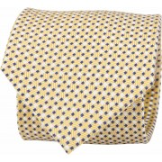 Suitable Krawatte Seide Karo Gelb F91-5 - Gelb