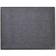 vidaXL Изтривалка за входна врата от PVC, сива, 90 х 120 см