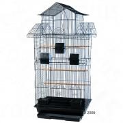 Клетка за птици Amilo - черна: Д 54 x Ш 46 x В 101 см