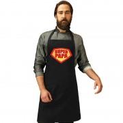 Shoppartners Super papa barbecueschort/ keukenschort zwart heren - Action products