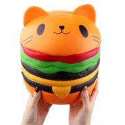 SanQi Elan Huge Cat Burger Squishy 8.66'' Humongous Jumbo 22CM Soft Slow Rising With Packaging Gift Giant Toy