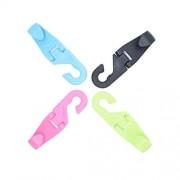 Uniqus New Car Creative Hooks Mini Back Hooks for The Car Car Hooks (4 Pcs Random Colors) Color Name Colorful