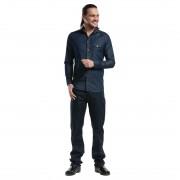 Chaud Devant Blue Denim Stretch heren blouse M - M