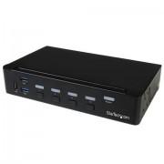 StarTech.com Switch Commutatore KVM a 4 Porte DisplayPort con Hub USB 3.0 - 4K
