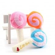Dog Puppy Chew Toy Squeaky Plush Sound Cute Lollipop Design Squeaking Honking Cachorro Pet Toys Puppies Dogs Squeaker
