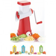 River 4 IN 1 ROTARY GRATER AND SLICER VEGETABLE CUTTER SALAD MAKER FRUIT CUTTER