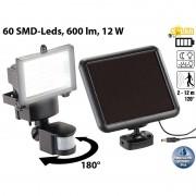 Luminea Solar-LED-Wand-Fluter für aussen, mit Bewegungssensor, 600 Lumen, IP44
