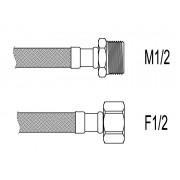 """Racord flexibil apa i-e, M1/2""""xF1/2"""", 60 cm Techman PWS51"""