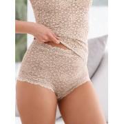 Nina v. C. Dames Tailleslip met hygiënisch kruisje Van Nina v. C. beige