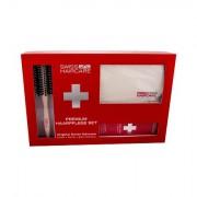 Swiss Haircare Premium 1 ks sada kartáč na vlasy Round Brush 1 ks + šampon pro barvené vlasy 200 ml + taštička pro ženy