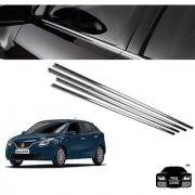 Trigcars Maruti Suzuki Baleno Car Window Lower Garnish Chrome