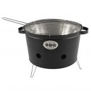 Merkloos Zwarte barbecue/bbq tafelmodel 33 cm houtskool