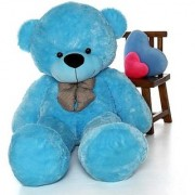 Priya Toys Blue 6 Feet Huggable Teddy Bear with Neck Bow Blue Big very soft and sweet anniversary for pleasant Gift hug able teddy bear