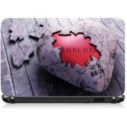 VI Collections Scratching Heart Printed Vinyl Laptop Decal 15.5